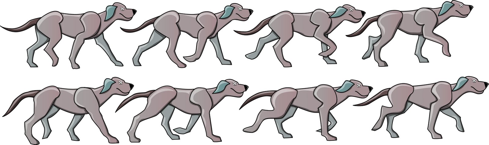 Dog Walking Animation Frames | Nakanak.org
